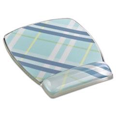 MMM MW308PL 3M Fun Design Clear Gel Mouse Pad Wrist Rest MMMMW308PL