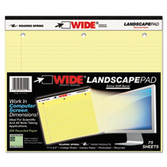 ROA 95511 Roaring Spring Landscape Format Writing Pad ROA95511