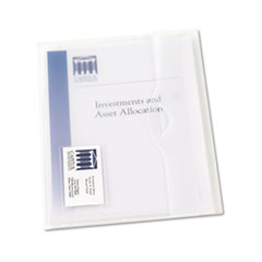 Avery Translucent Document Wallets, Letter, Poly, Clear, 12/Box