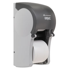 Georgia Pacific Professional Vertical Double Roll Coreless Tissue Dispenser, 6 x 6 1/2 x 13 1/2, Smoke