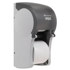 Georgia Pacific Professional Vertical Double Roll Coreless Tissue Dispenser, 6 x 6 1/2 x 13 1/2, Smoke