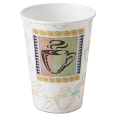 Dixie Hot Cups, Paper, 12 oz., Coffee Dreams Design, 500/Carton