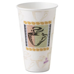 Dixie Hot Cups, Paper, 16 oz, Coffee Haze Design, 500/Carton