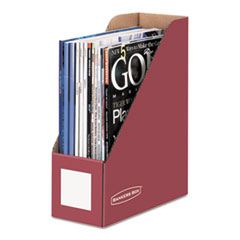 Bankers Box Decorative Magazine File, 4 x 9 x 11 1/2, Persimmon Red