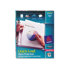Avery Quick Top & Side Loading Sheet Protectors, Letter, Diamond Clear, 50/Box