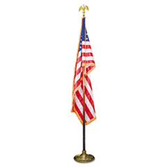 Advantus Deluxe 3 ft x 5 ft U.S. Flag, 8 ft Oak Staff, 2