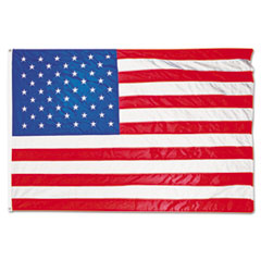 Advantus All-Weather Outdoor U.S. Flag, Heavyweight Nylon, 4 ft. x 6 ft.
