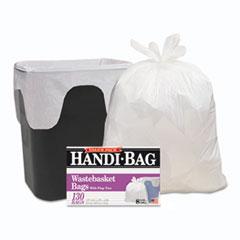 "Handi-Bag® LINER 8GAL 130-BX WH SUPER VALUE PACK, 8 GAL, 0.6 MIL, 22"" X 24"", WHITE, 130-BOX"
