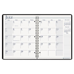 House of Doolittle Spiralbound 14-Month Academic Appointment Book, 8-1/2 x 11, Black, 2014-2015