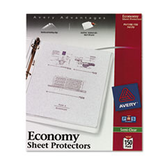 Avery Top-Load Sheet Protector, Economy Gauge, Letter, Semi-Clear, 150/Box