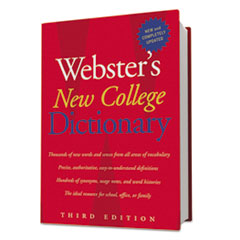 Houghton Mifflin Webster's II New College Dictionary, Hardcover, 1,536 Pages