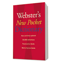 Houghton Mifflin Webster's New Pocket Dictionary, Paperback, 336 Pages