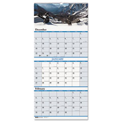 House of Doolittle Scenic Landscapes Three-Months/Page Wall Calendar, 12-1/4 x 26, 2013-2015