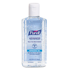 PURELL Advanced Instant Hand Sanitizer w/Aloe, 4oz Flip-Cap Bottle, 24/Carton