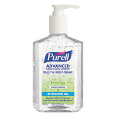 PURELL Green Certified Instant Hand Sanitizer Gel, 8 oz Pump Bottle, Clear