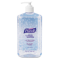 PURELL Hand Sanitizer, 20oz Pump Bottle, 12/Carton