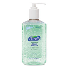 PURELL Instant Hand Sanitizer w/Aloe, 12oz Pump Bottle, 12/Carton