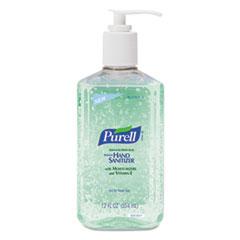 PURELL Instant Hand Sanitizer w/Aloe, 12oz Pump Bottle, 12/Carton