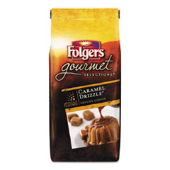 Folgers Gourmet Selections Coffee, Ground, Caramel Drizzle, 10oz Bag