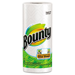 Bounty Perforated Paper Towels, 9 x 10 2/5, White, 48 Sheets/Roll