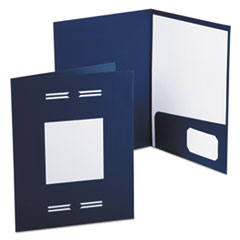 Oxford Imperial Series Laserview Business Portfolio, Premium Paper, Blue, 10/Pack
