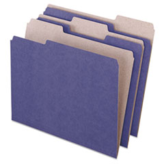 Pendaflex Earthwise Recycled Colored File Folders, 1/3 Cut Top Tab, Letter, Violet, 100/Box