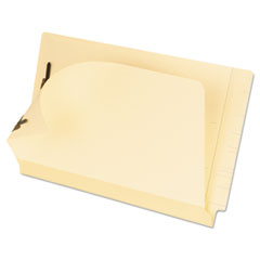 Pendaflex Laminated Spine End Tab Folder with 2 Fasteners, 11 pt Manila, Legal, 50/Box