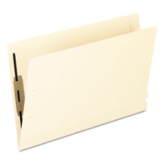 Pendaflex Laminated Spine End Tab Folder with 1 Fastener, 11 pt Manila, Legal, 50/Box