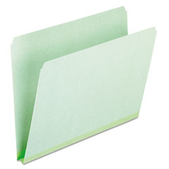 Pendaflex Pressboard Expanding File Folders, Straight Cut, Top Tab, Letter, Green, 25/Box