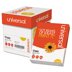 Universal Copy Paper Convenience Carton, 92 Brightness, 20lb, 8-1/2 x 11, White, 2500/Ctn