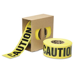 AbilityOne 9905016134244 Caution Barricade Tape, 2 mil Thick, 3