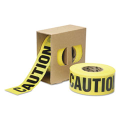 AbilityOne 9905016134243 Caution Barricade Tape, 3 mil Thick, 3