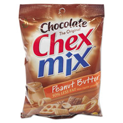 General Mills Chex Mix Chocolate Peanut Butter, 4.5oz, 7/Box