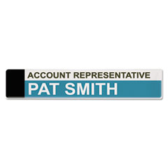 Advantus Panel Wall Sign Name Holder, Acrylic, 9 x 2, Clear