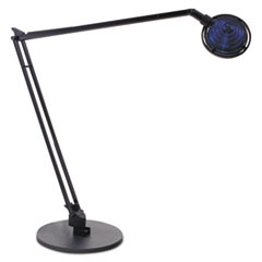Ledu Concentrolite Halogen Desk Lamp, Tiered Shade, Weighted Base, 34 Inch Reach