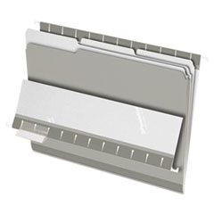 Pendaflex Interior File Folders, 1/3 Cut Top Tab, Letter, Gray, 100/Box