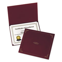 Oxford Certificate Holder, 12-1/2 x 9-3/4, Burgundy, 5/Pack
