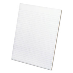 Ampad Glue Top Narrow Ruled Pads, Letter, White, 50-Sheet Pads/Pack, Dozen