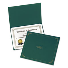 Oxford Certificate Holder, 12-1/2 x 9-3/4, Green, 5/Pack