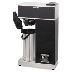 BUNN Airpot Coffee Brewer, Brews 3.8gal, Stainless Steel w/Black Accents