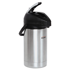 BUNN Lever Action Airpot, 3 Liter, Stainless Steel