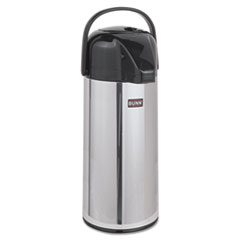 BUNN Airpot Carafe, 2200mL, Stainless Steel