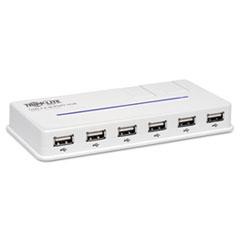 Tripp Lite 10-Port USB 2.0 Hub, 6-1/5w x 3d x 3/4h, White