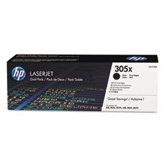 CE410XD (HP-305X) High-Yield Toner, 4000 Page-Yield, Black, 2/Pk