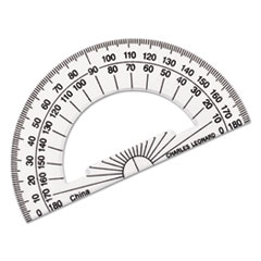 Charles Leonard Open Center Protractor, Plastic, 4