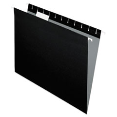 Pendaflex Hanging File Folders, 1/5 Tab, Letter, Black, 25/Box
