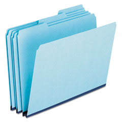 Pendaflex Pressboard Expanding File Folders, 1/3 Cut Top Tab, Letter, Blue, 25/Box