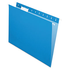 Pendaflex Essentials Colored Hanging Folders, 1/5 Tab, Letter, Blue, 25/Box