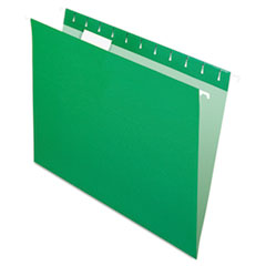 Pendaflex Hanging File Folders, 1/5 Tab, Letter, Bright Green, 25/Box