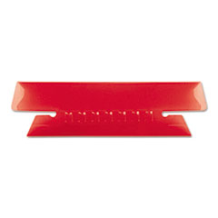 Pendaflex Hanging File Folder Tabs, 1/3 Tab, 3 1/2 Inch, Red Tab/White Insert, 25/Pack
